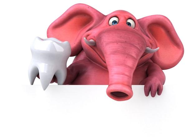 Pink elephant illustration