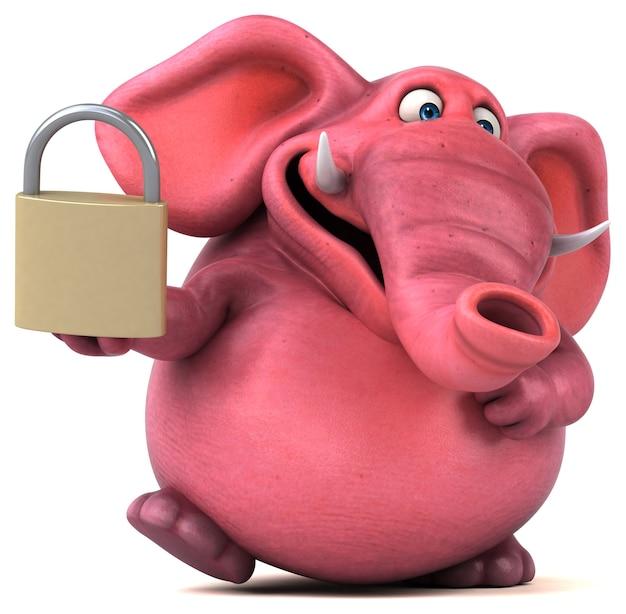 Розовый слон иллюстрация