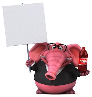 ピンクの象のイラスト