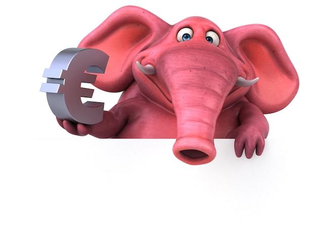 Иллюстрация розовый слон