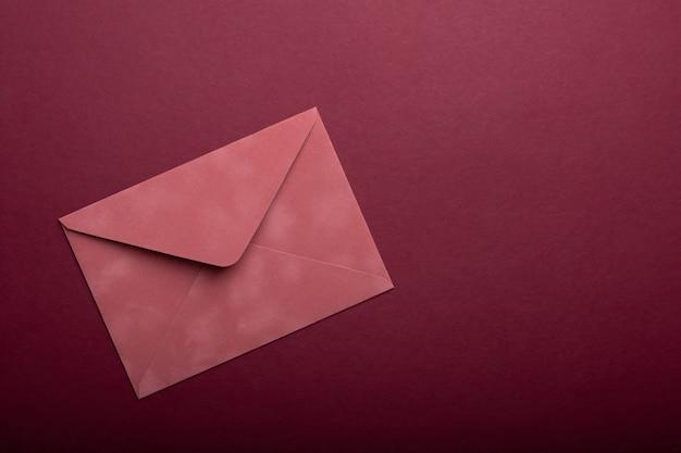 발렌타인 연애 편지와 핑크색 봉투
