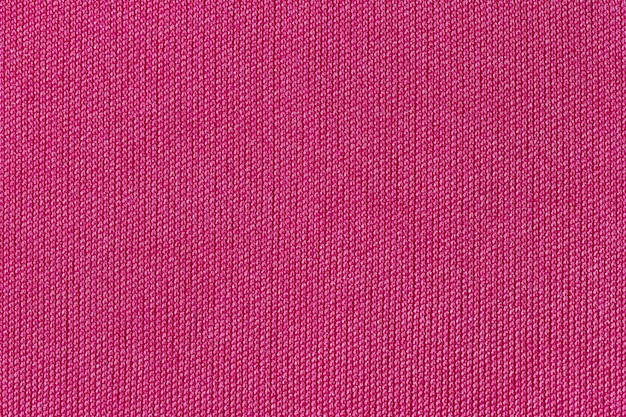 Pink fabric cloth polyester texture and textile background.