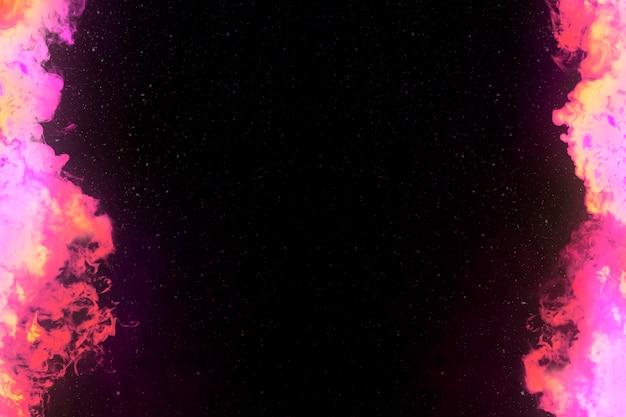 Pink fire burning border frame