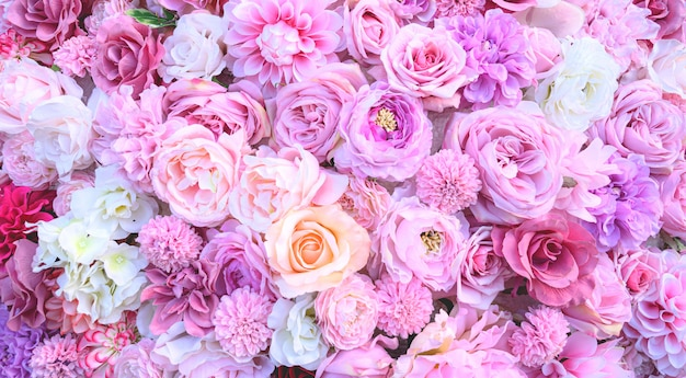 Pink flower background.wedding concept background.