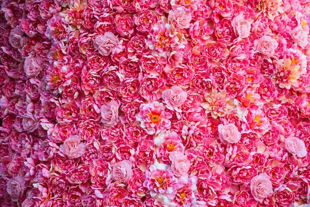 背景のためのピンクの花。