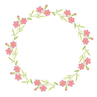Розовая цветочная иллюстрация цветочная рамка