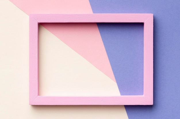 Pink frame on colorful background