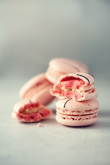 Pink french macaroons.