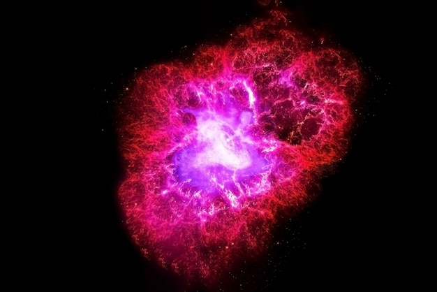 A pink galaxy in deep space. elements of this image were furnished by nasa. for any purpose.