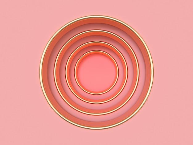 ピンクゴールドホール抽象的な背景の3 dレンダリング