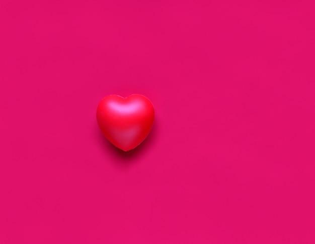 Розовое сердце на текстиле концепция здравоохранения и любви всемирный день сердца международный день семьи