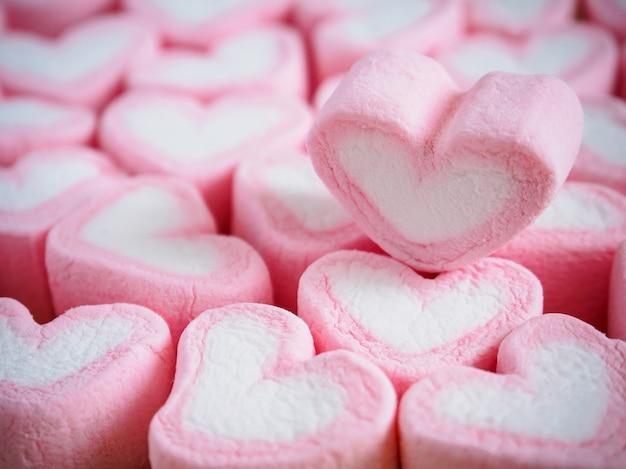 발렌타인 데이 배경 핑크 하트 모양 멜로