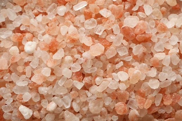 全体の背景にピンクのヒマラヤの塩