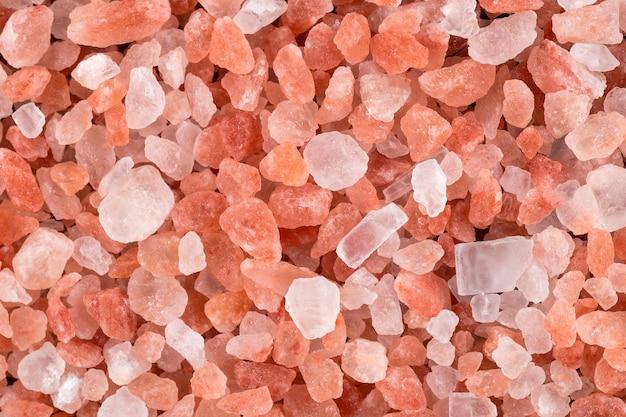 ピンクヒマラヤ塩テクスチャ水平背景