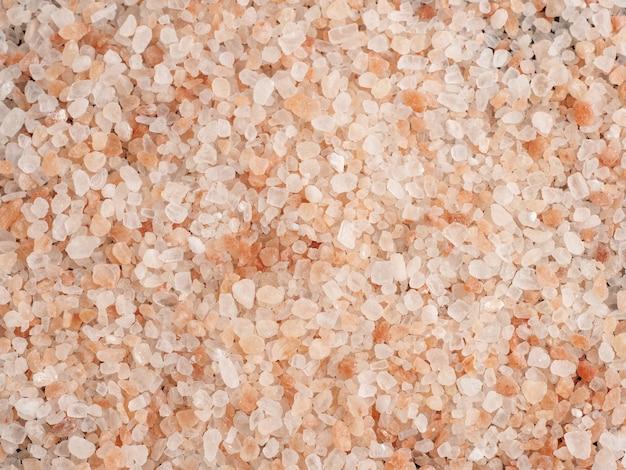 ピンクのヒマラヤの塩の上面図の背景