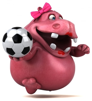 Pink hippo animation