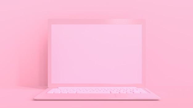 ピンクのラップトップ