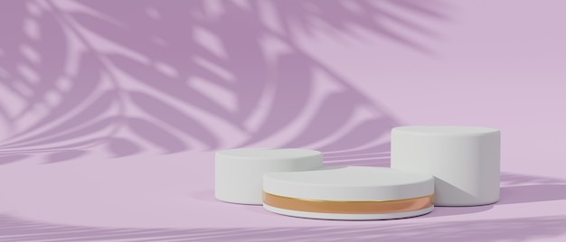 Pink light and leaf shadow and product stand for cosmetic cream