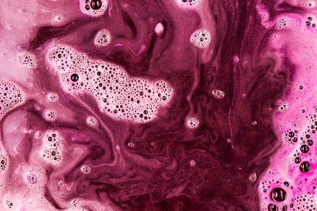 Pink liquid with foam