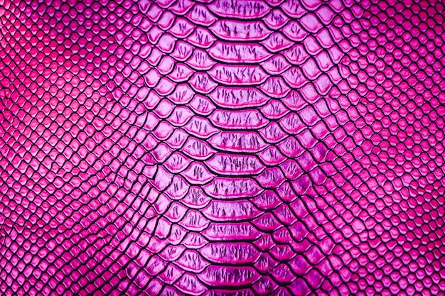 Pink luxury snake skin texture use for background
