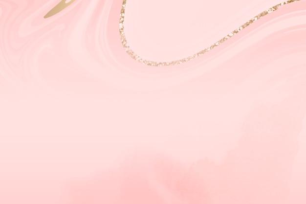 金の裏地とピンクの大理石の波の背景