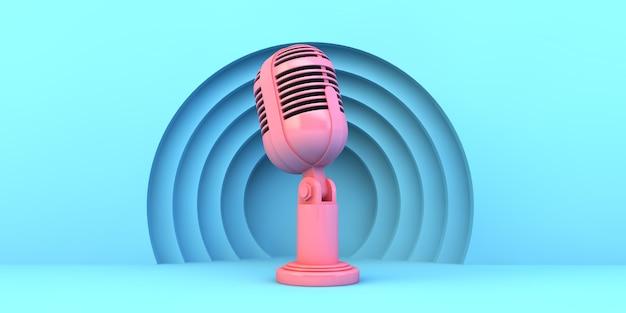 Розовый микрофон