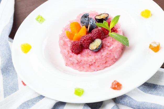 Pink mochi japanese sweet rice treat