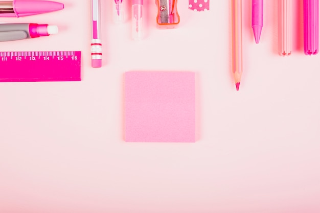 Pink office equipment