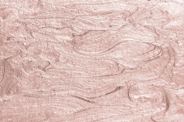 ピンクの油絵の具の質感