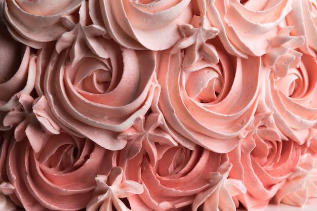 Розовый торт ombre rose. концепция праздника.
