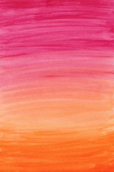 핑크 & 오렌지 수채화 그라데이션 배경, 디지털 종이