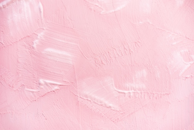 Pink paint on wall texture background