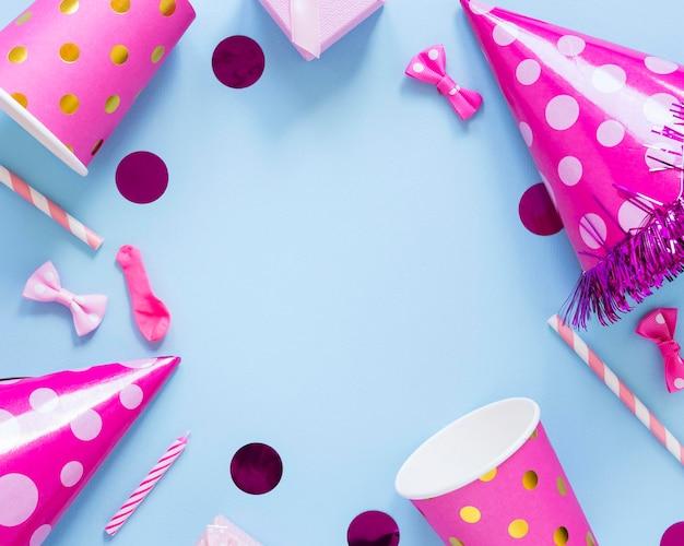 Розовая круглая рамка для вечеринок