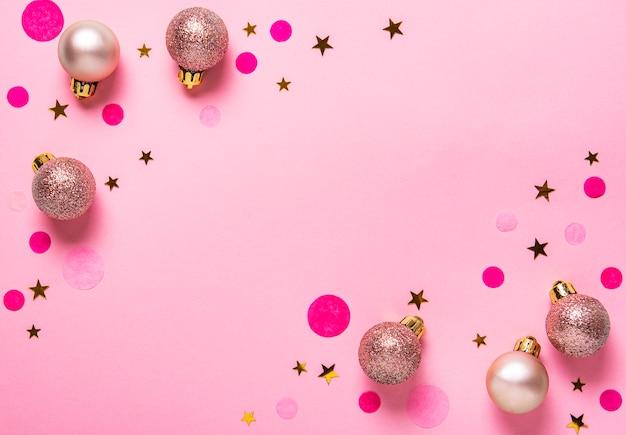 ピンクのパステル調のお祭りの背景
