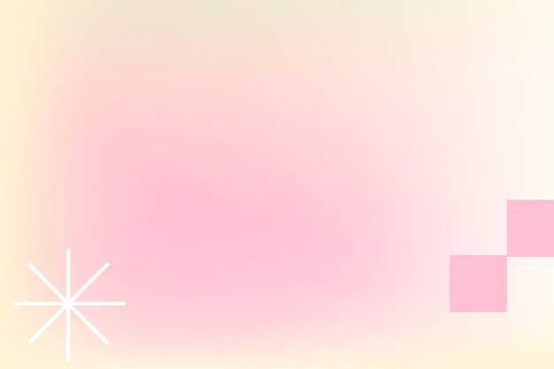 Pink pastel gradient background in abstract memphis style with retro border