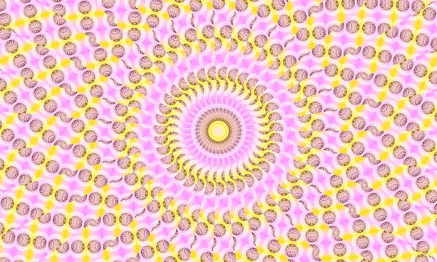 Розовый пастельный фон калейдоскопа, абстрактное искусство узоров - минималистские узоры для украшения дома, настенное искусство, печать на холсте и многое другое