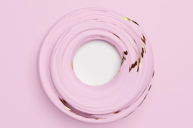 내부에 흰색 프레임이있는 핑크 파스텔 포털