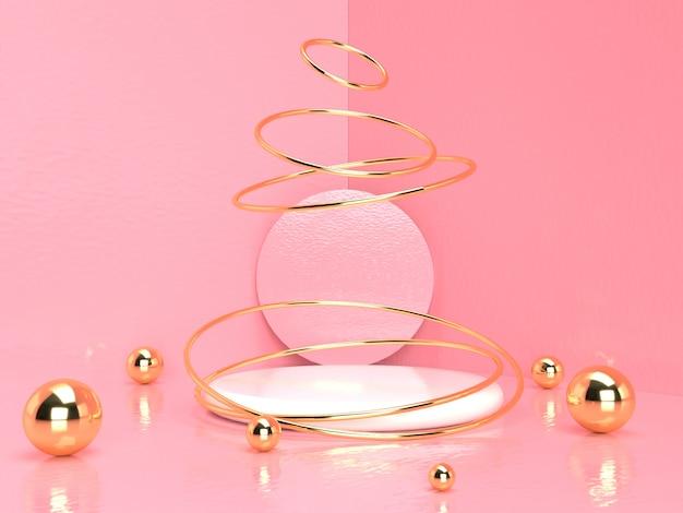 Розовая пастель продукта стоять на фоне. абстрактная минимальная геометрия concept.3d рендеринг