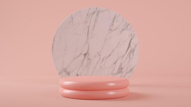 제품 발표를위한 분홍색 플라스틱 플랫폼