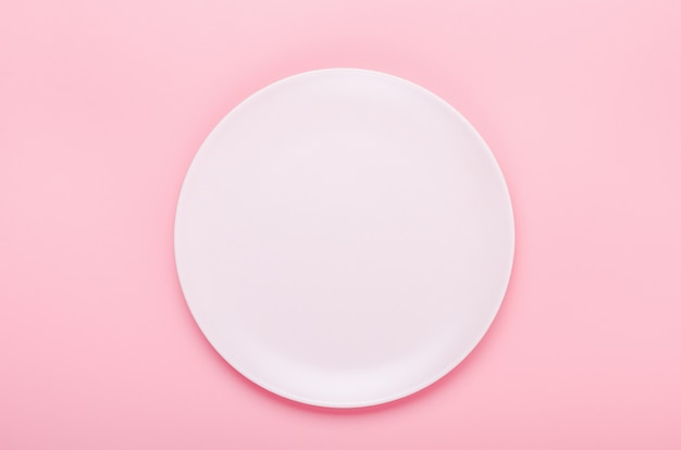 Pink plate on pink.