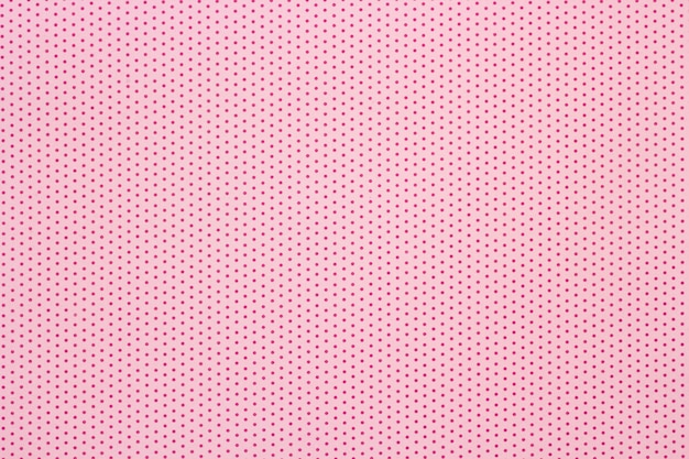 Pink polka dots pattern background, top view