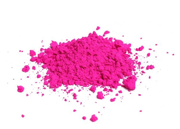 Розовый порошок изолированы, концепция фестиваля холи