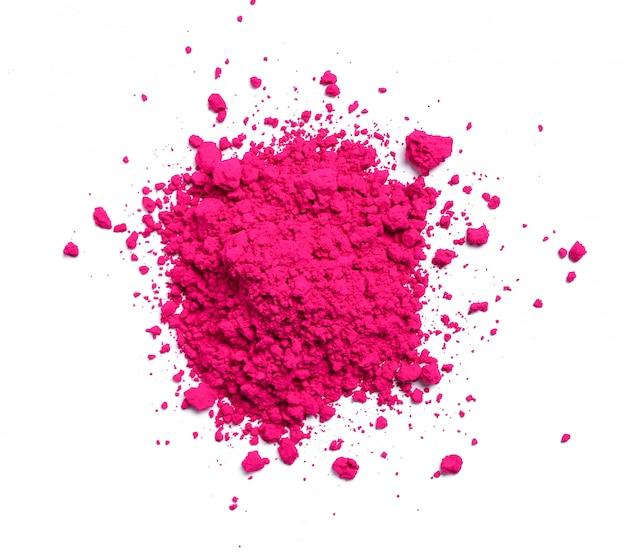 Polvere rosa isolata, concetto di festival di holi