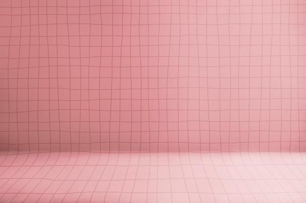 Fondale prodotto rosa, scaffale con motivo a griglia
