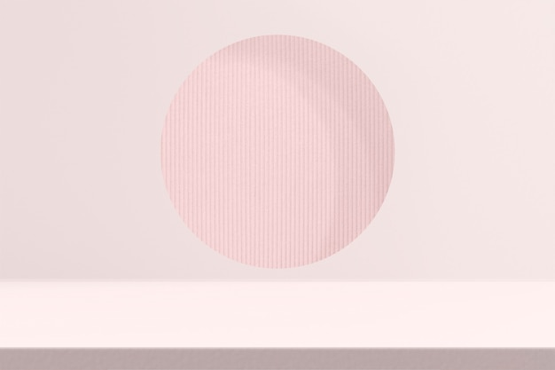 Pink product backdrop with design space