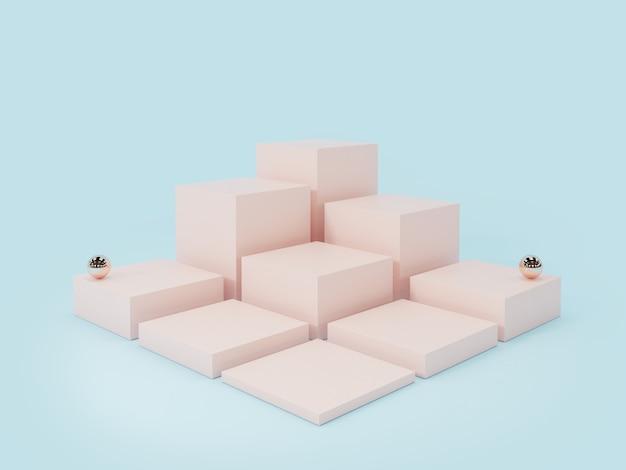 분홍색 제품 디스플레이 연단