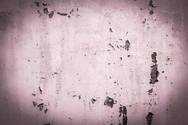 핑크, 퍼플, 라일락, 텍스처. 오래 된 녹슨 벽 배경입니다. 거칠기와 균열. 프레임, 비네트