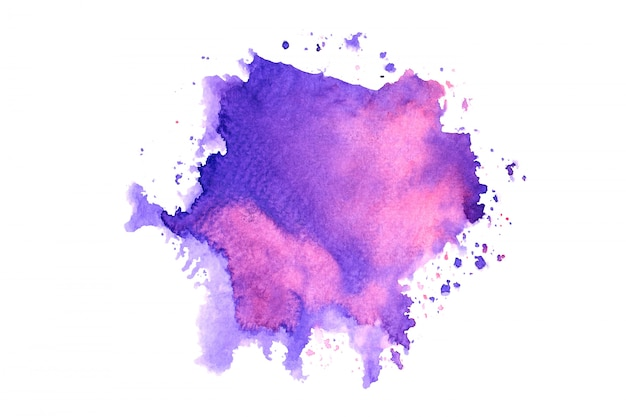 Pink purple watercolor stain with color shades paint stroke