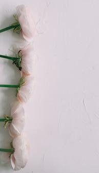 Розовая ваза лютик на белой поверхности