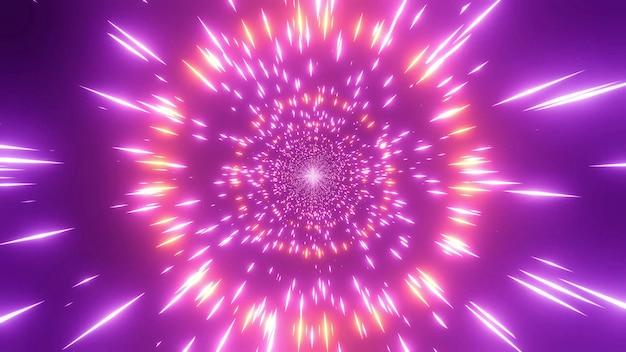 4k Uhd 우주 은하 웜홀 3d 일러스트를 변경하는 분홍색 붉은 색 프리미엄 사진